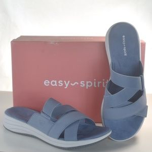 Womens Sandals Easy Spirit Drones 2 Blue Size 9M